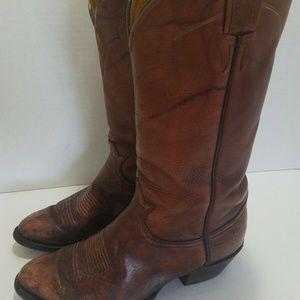 Tony lama 5084 leather cowboy boots 8.5 Distressed